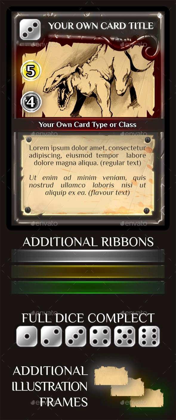Trading Card Template Photoshop Fresh Fantasy Trading or Collectible Card Template