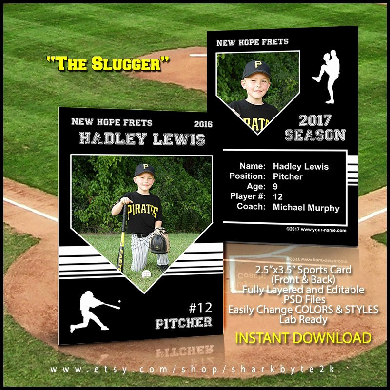 Trading Card Template Photoshop Lovely Baseball Card Template Perfect for Trading Cards for Your