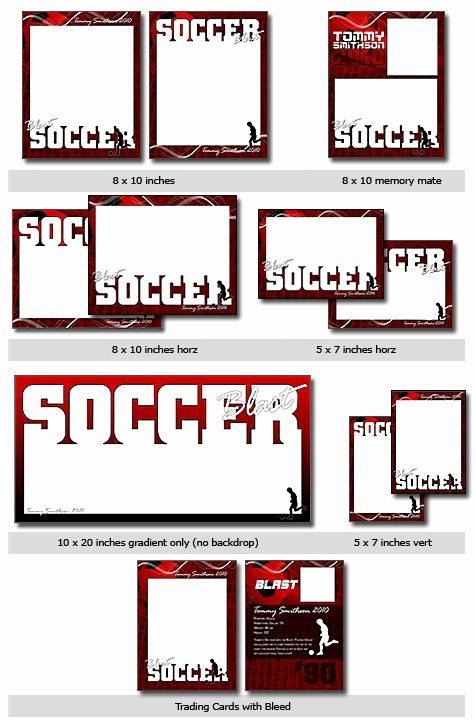 Trading Card Template Photoshop Lovely Sports soccer Vol 9 Shop and Elements Templates