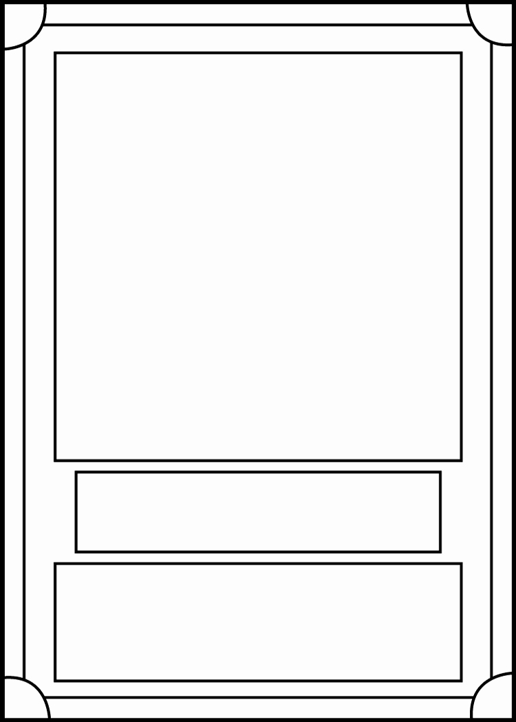 Trading Card Template Word Unique Trading Card Template Front by Blackcarrot1129 On Deviantart