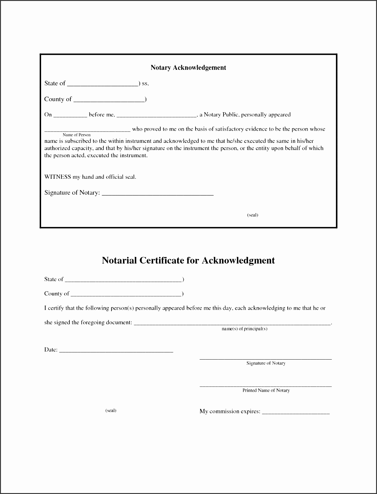 Training Acknowledgement form Template Inspirational 6 Affidavit form Sample Ms Word Sampletemplatess