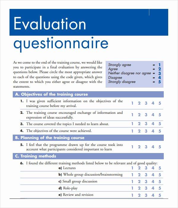 Training Evaluation forms Template Fresh Training Evaluation form 17 Download Free Documents In