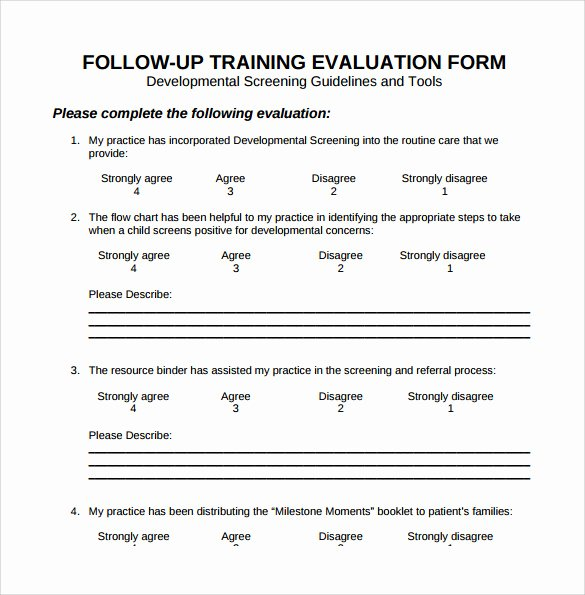 Training Evaluation forms Template Luxury 15 Sample Training Evaluation forms – Pdf