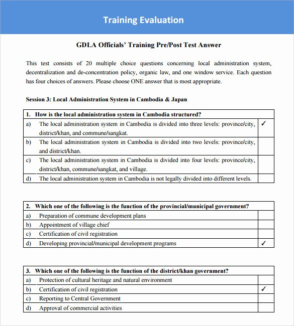 Training Evaluation forms Template Unique Training Survey Templates – 7 Sample Example format