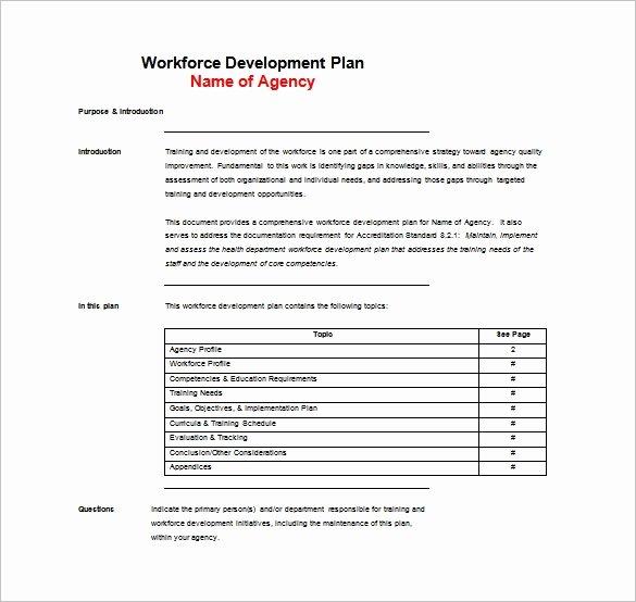 Training Manual Template Word Beautiful 11 Training Plan Templates Word Pdf