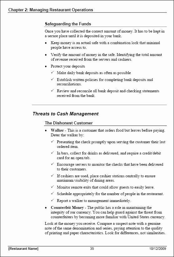 Training Manual Template Word Fresh 21 Of Server Training Manual Template