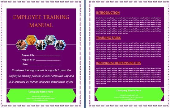 Training Manual Template Word Inspirational Boring Work Made Easy Free Templates for Creating Manuals