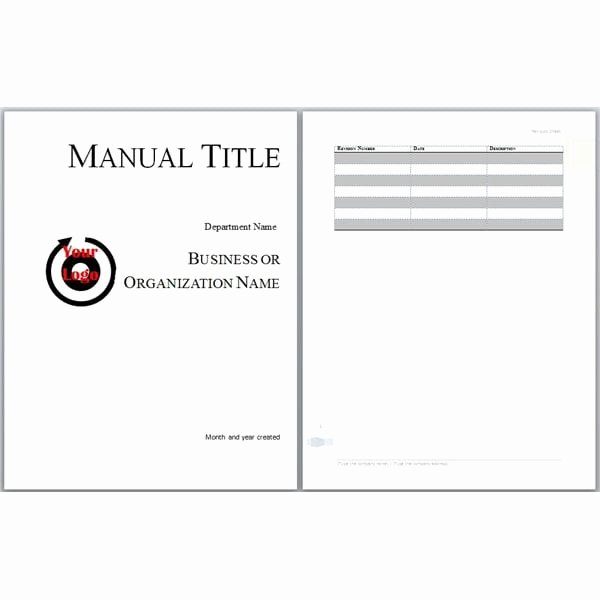 Training Manual Template Word Luxury 6 Free User Manual Templates Excel Pdf formats