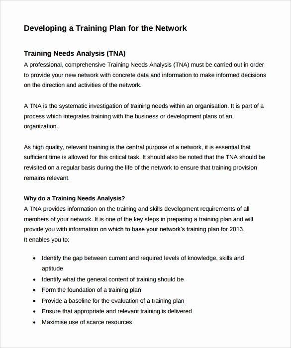 Training Needs Analysis Template Elegant 12 Sample Training Needs Analysis Templates – Pdf Word