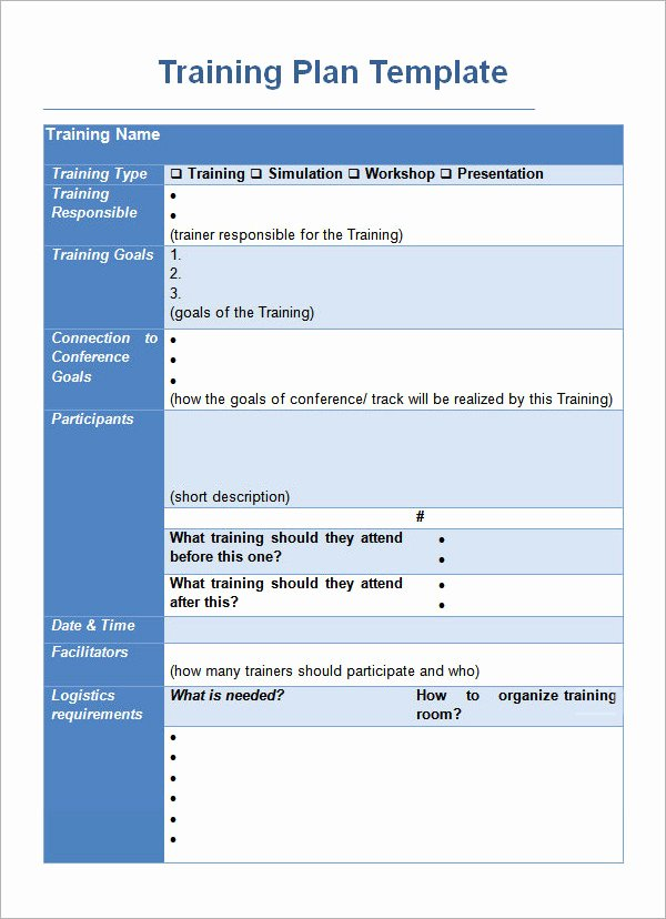 Training Outline Template Word Luxury Training Plan Template 19 Download Free Documents In
