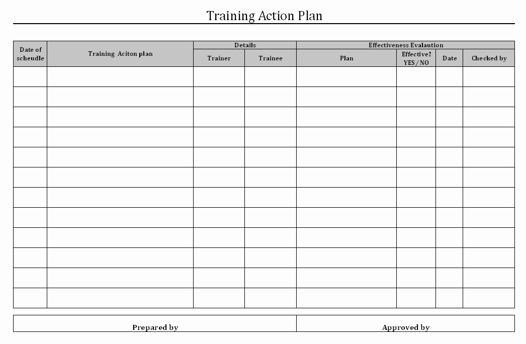 Training Plan Template Excel Unique Employee Training Matrix Template Excel Download