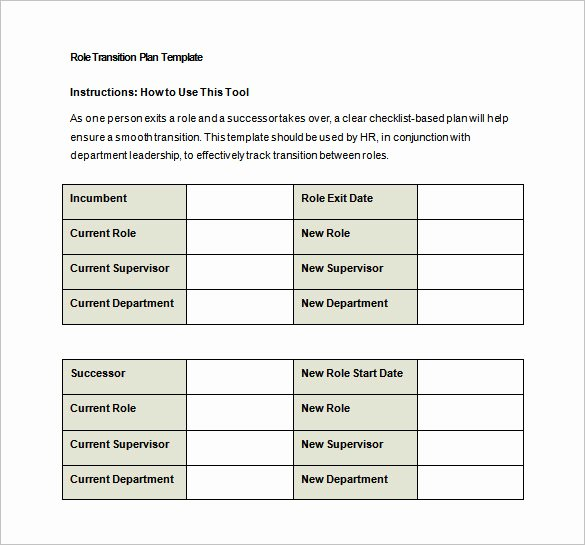 Transition Management Plan Template Lovely Transition Plan Template