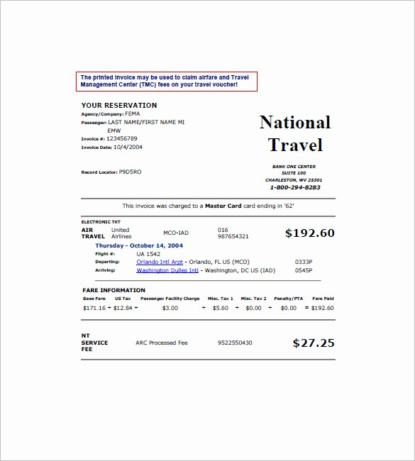 Travel Agent Quote Template Beautiful 16 Travel Invoice Templates Pdf Doc Excel