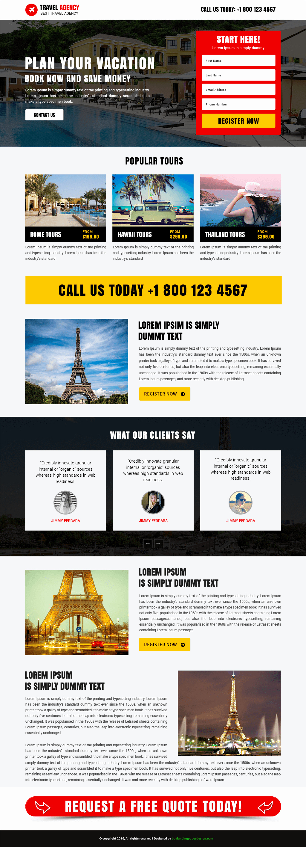Travel Agent Quote Template Beautiful Professional Travel Agency Template Buy Landing Pages Design