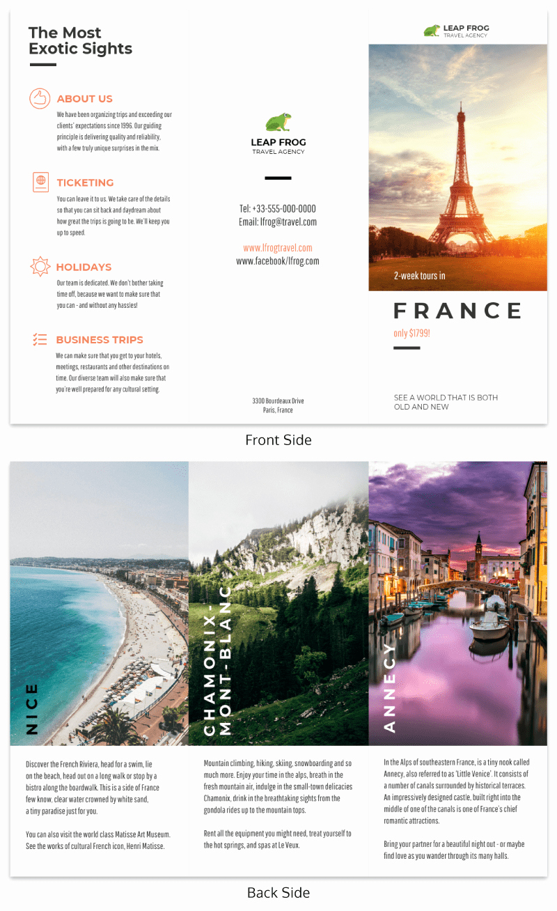 Travel Brochure Template Free Awesome Destination Tri Fold Travel Brochure Template Venngage