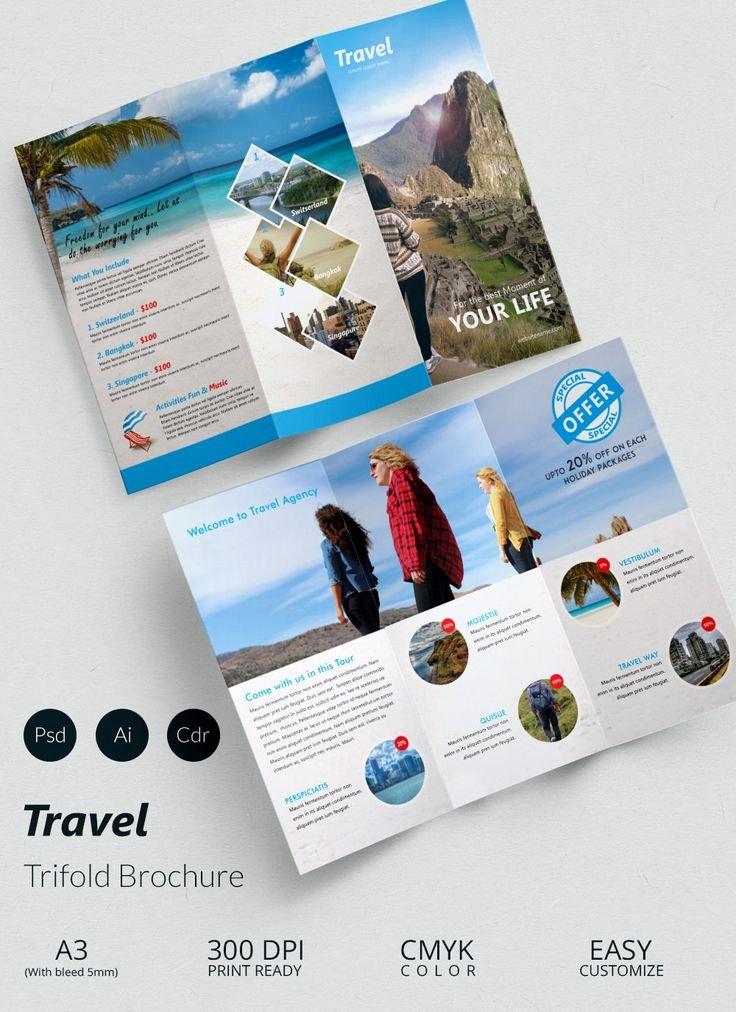 Travel Brochure Template Free Beautiful Best 20 Travel Brochure Ideas On Pinterest