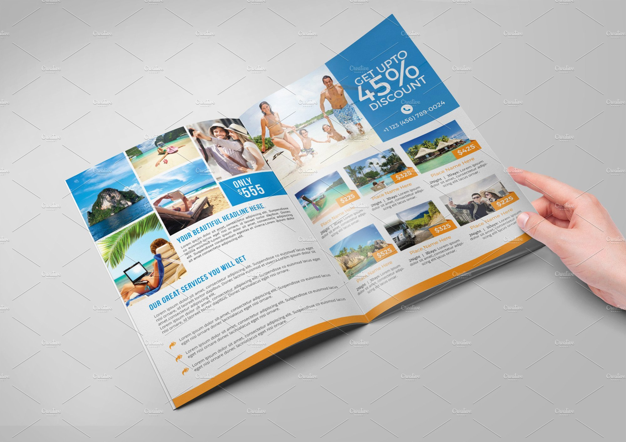 Travel Brochure Template Free Best Of Travel Agency Bi Fold Brochure Brochure Templates
