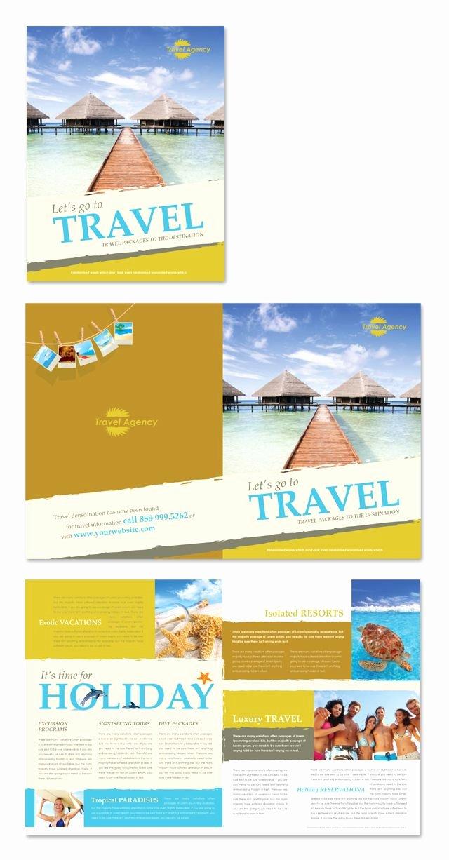 Travel Brochure Template Free Elegant Travel Agency Brochure Template
