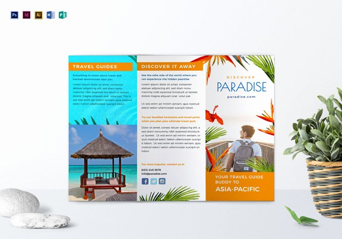 Travel Brochure Template Free Inspirational 40 Best Travel and tourist Brochure Design Templates 2018