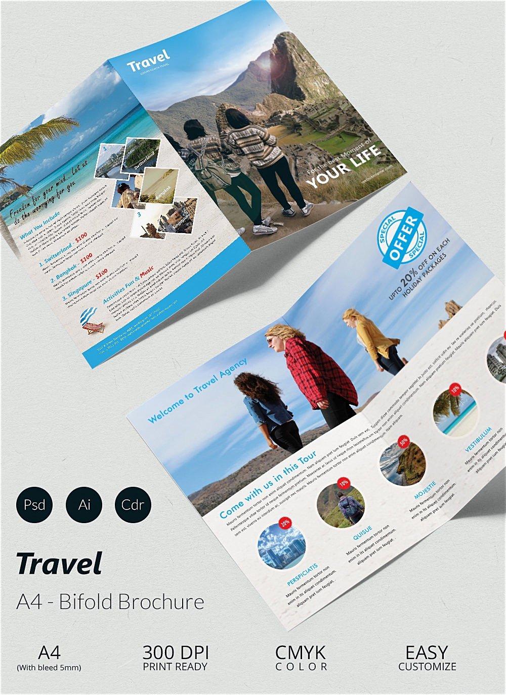 Travel Brochure Template Free Luxury Bi Fold Brochure Template Word Mughals