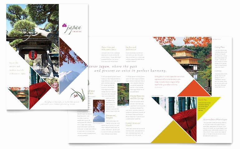 Travel Brochure Template Word Best Of Japan Travel Brochure Template Word & Publisher