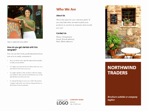 Travel Brochure Template Word Inspirational Business Tri Fold Brochure