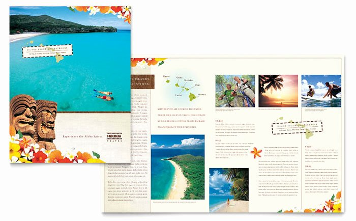 Travel Brochure Template Word New Hawaii Travel Vacation Brochure Template Design
