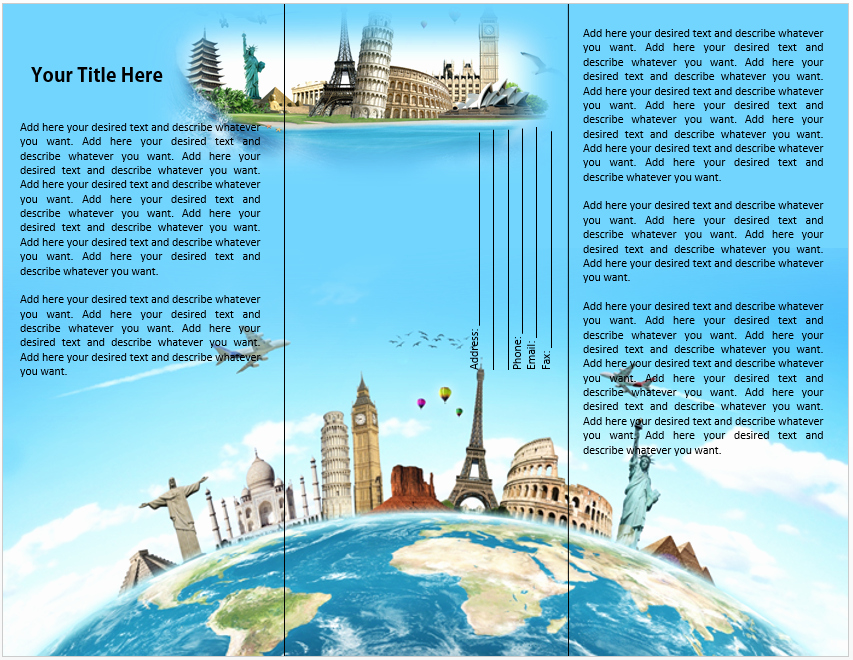 Travel Brochure Template Word Unique Travel or tourist Brochure Template – Microsoft Word Templates