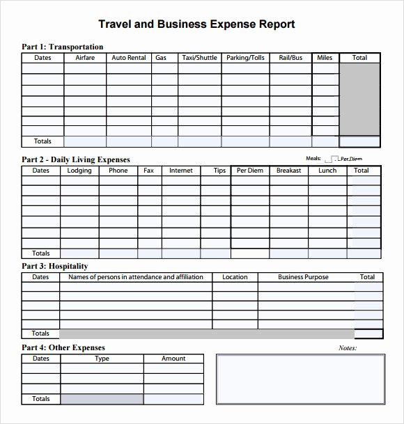 Travel Expense Report Template Best Of 7 Bud Summary Samples