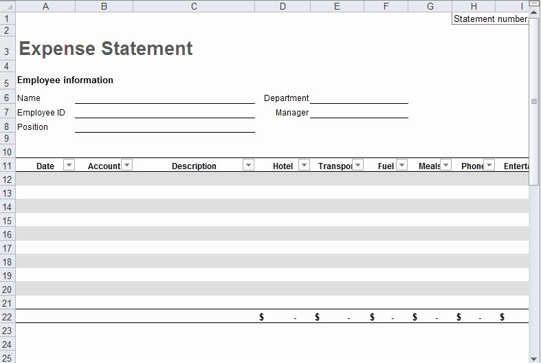 Travel Expense Report Template Best Of Travel Expense Report Template