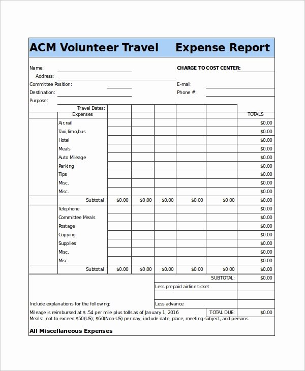 Travel Expense Report Template Elegant 49 Report Templates Free Sample Example format