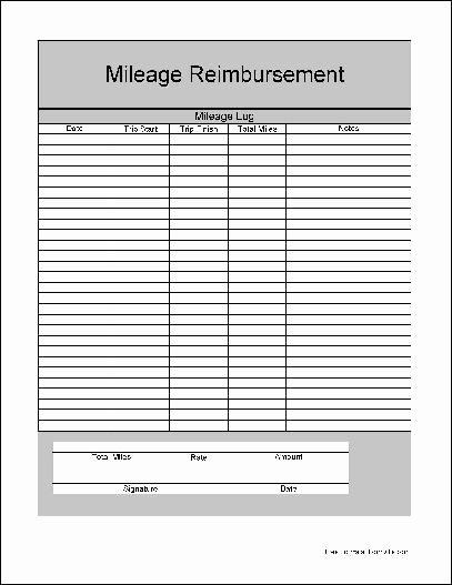 Travel Reimbursement form Template Beautiful 18 Best Of Mileage Expense Worksheets Free