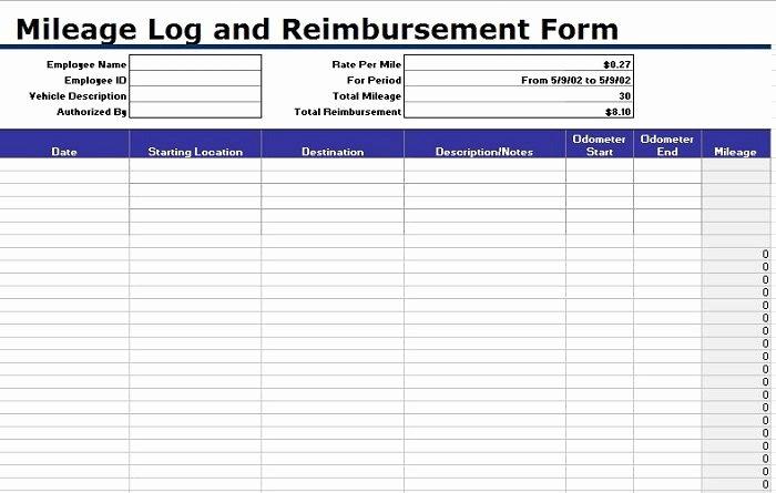 Travel Reimbursement form Template Best Of 30 Printable Mileage Log Templates Free Template Lab