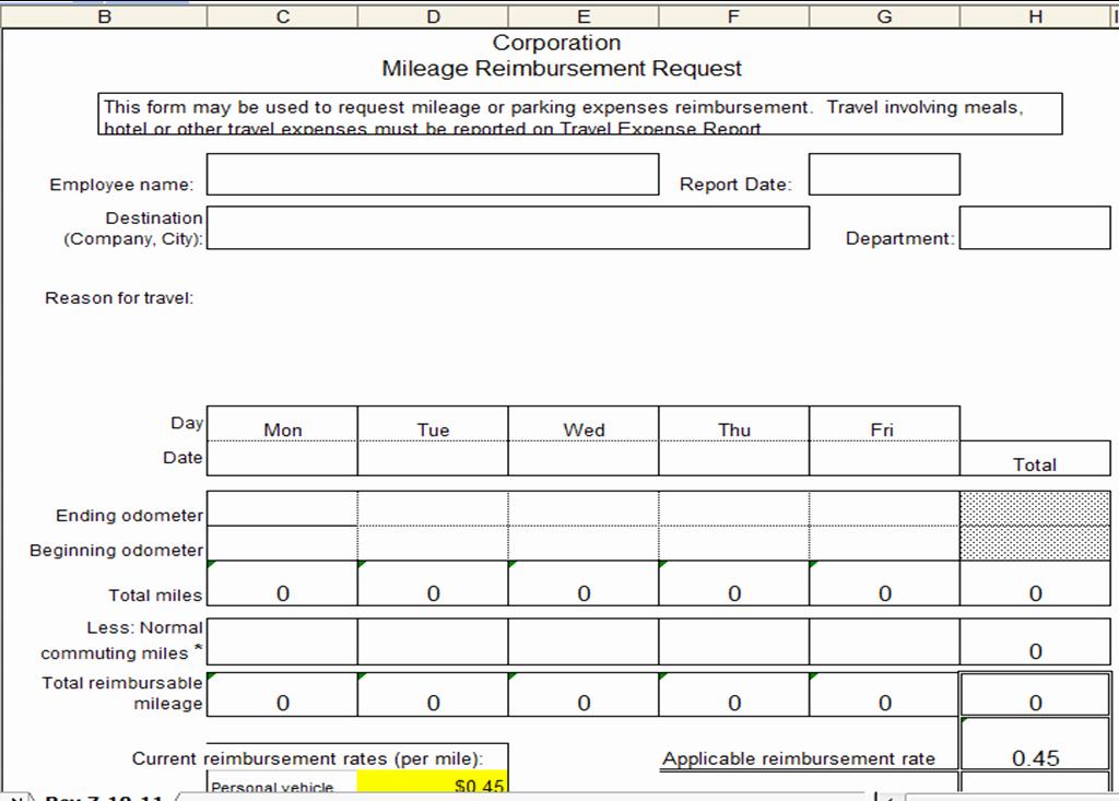 Travel Reimbursement form Template Lovely Excel Spreadsheets Help Mileage Reimbursement Template
