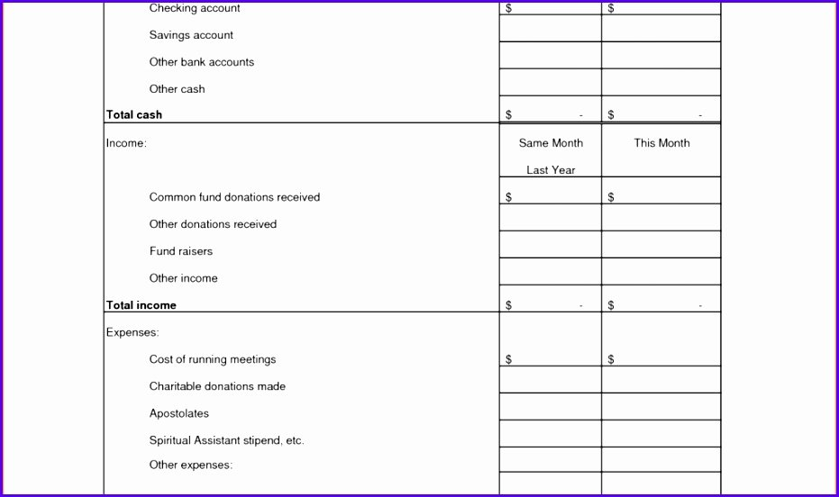 Treasurer Report Template Excel Best Of 8 Treasurer Report Template Excel Exceltemplates