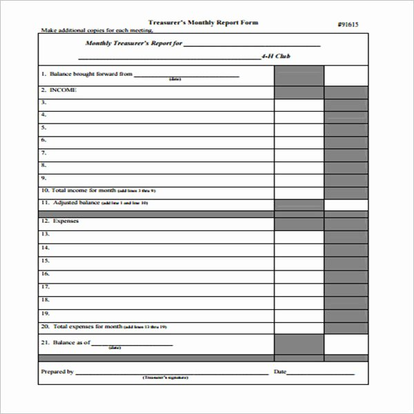 Treasurer Report Template Excel Inspirational 20 Treasurer Report Templates Free Word Pdf Excel Examples