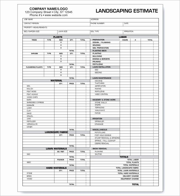 Tree Service Estimate Template Luxury Free Template Estimate Invoice for Tree Service Lawn Care
