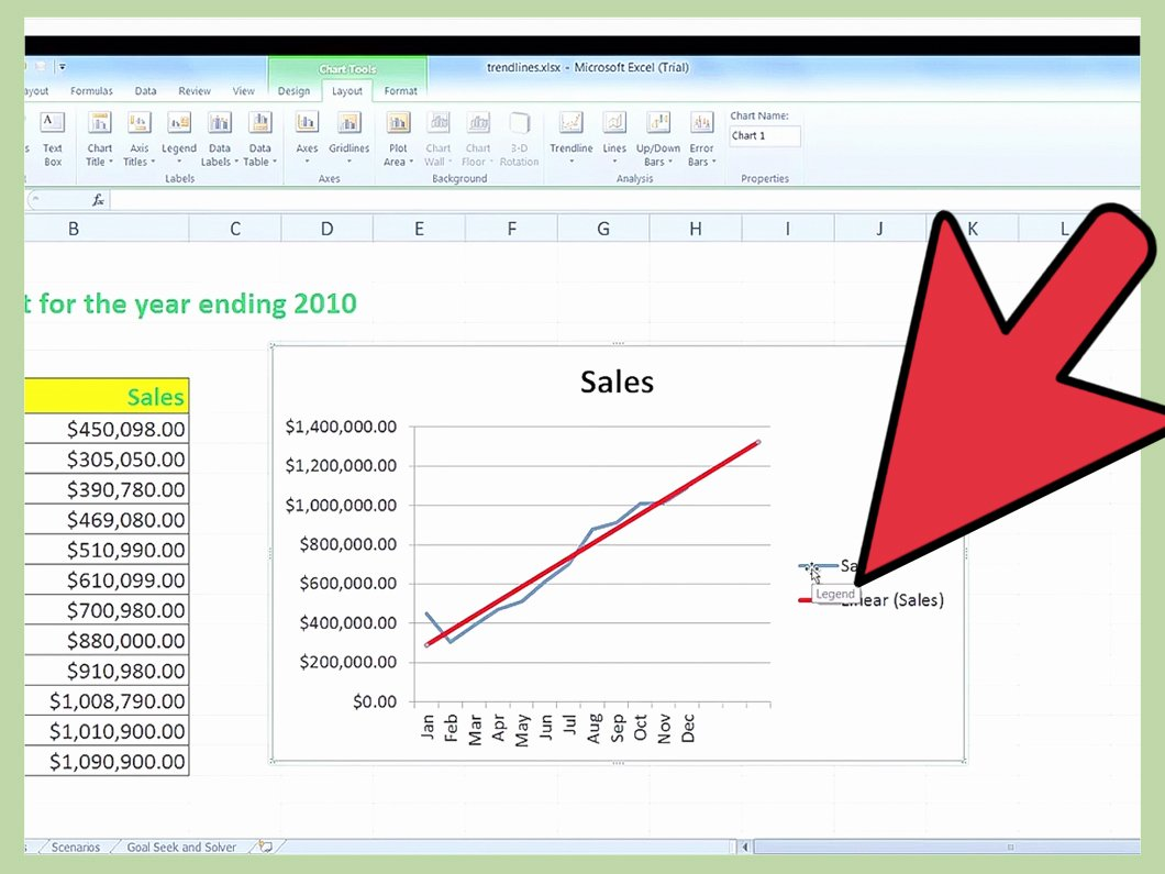 Do Trend Analysis in Excel