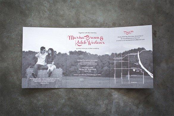Tri Fold Invitation Template Best Of 12 Tri Fold Wedding Invitation Templates Psd