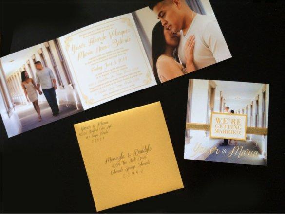 Tri Fold Invitation Template Best Of 19 Trifold Wedding Invitation Templates – Free Sample