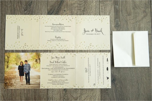 Tri Fold Invitation Template Best Of 22 Wedding Invitations