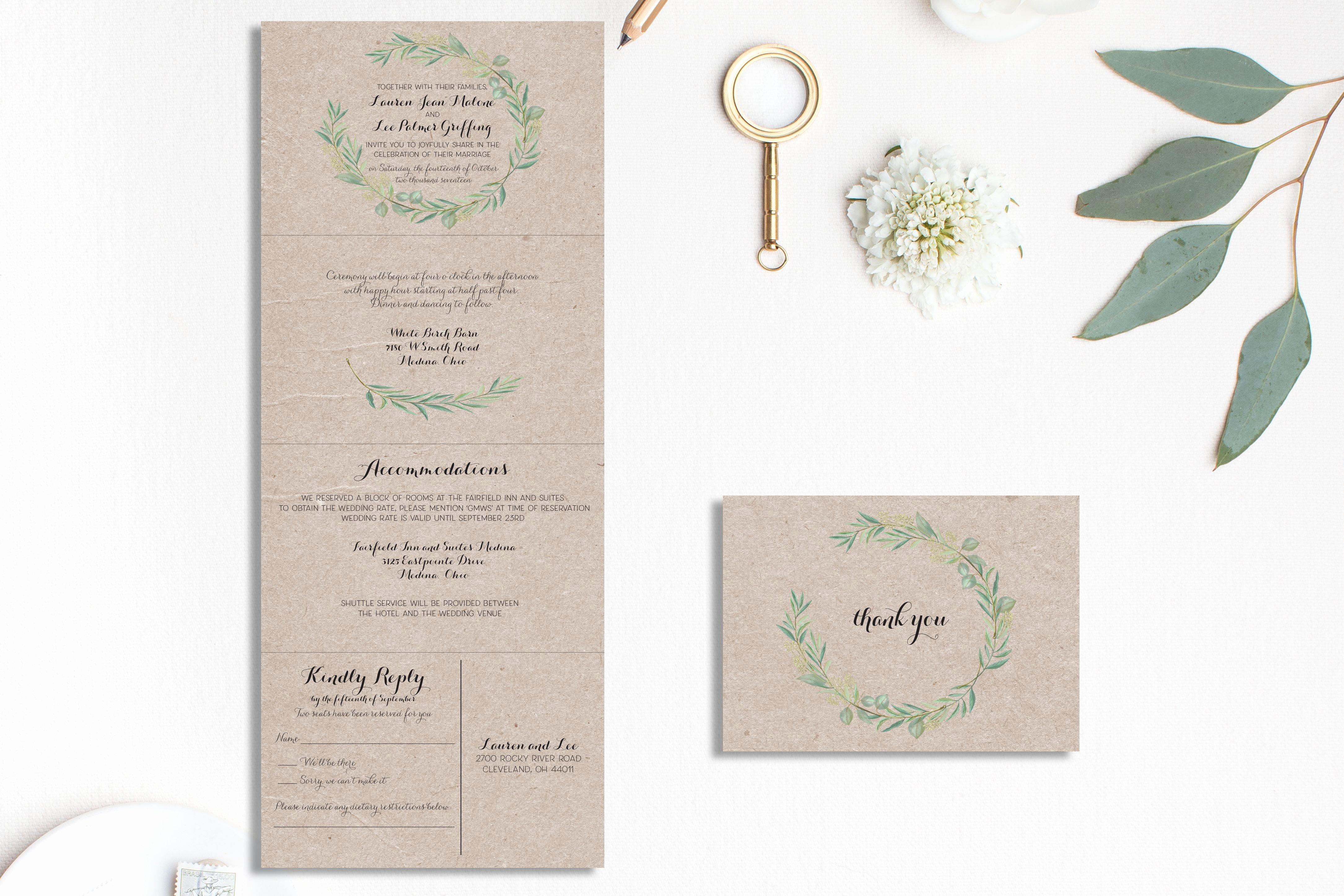 tri fold wedding invitations template sample pdf peonies cut wedding invitation 5x7 gate fold card template