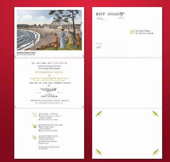 Tri Fold Invitation Template Luxury 12 Tri Fold Wedding Invitation Templates Psd