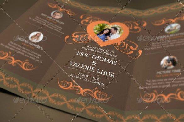 Tri Fold Invitation Template Luxury 19 Trifold Wedding Invitation Templates – Free Sample