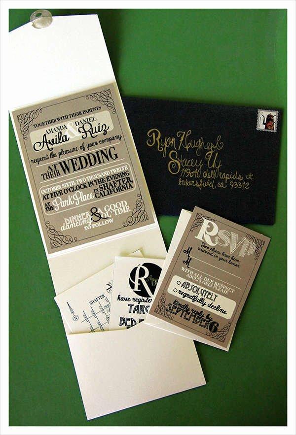 Tri Fold Invitation Template Luxury 60 Wedding Invitations Design
