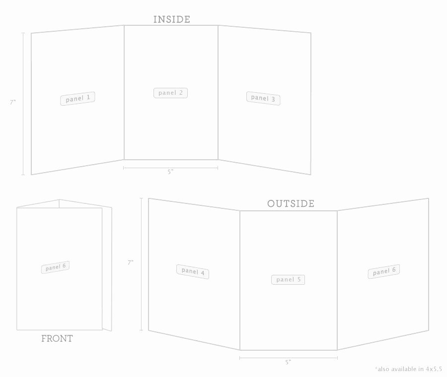 Tri Fold Invitation Template Luxury Tri Fold Cards Tri Fold Invitations Purpletrail