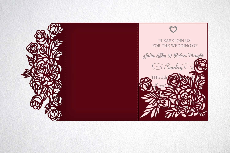 Tri Fold Invitation Template Luxury Tri Fold Wedding Invitation Svg Cricut Laser Cut Template