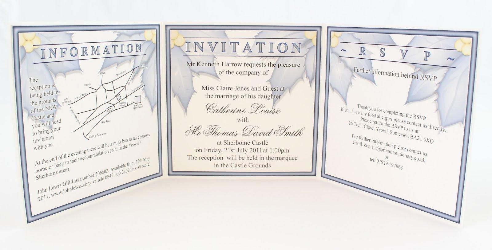 Tri Fold Invitation Template Luxury Tri Fold Wedding Invitations Inside Tri Fold Wedding