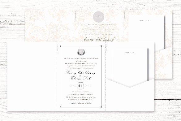 Tri Fold Invitation Template New 12 Tri Fold Wedding Invitation Templates Psd