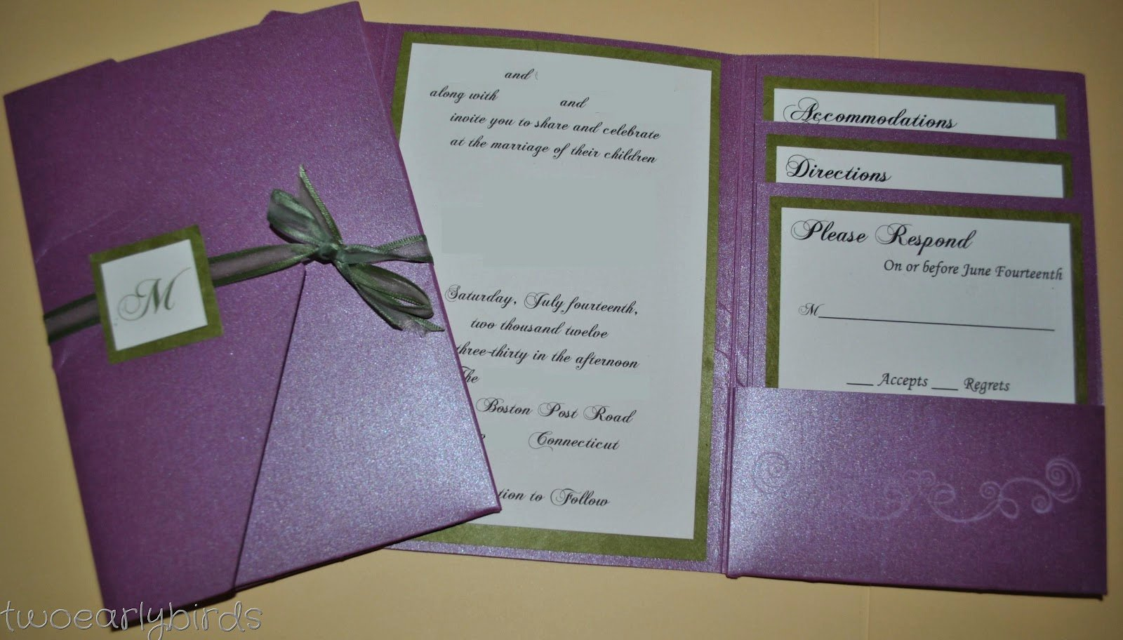 Tri Fold Invitations Template Beautiful Two Early Birds A Wedding Invitation